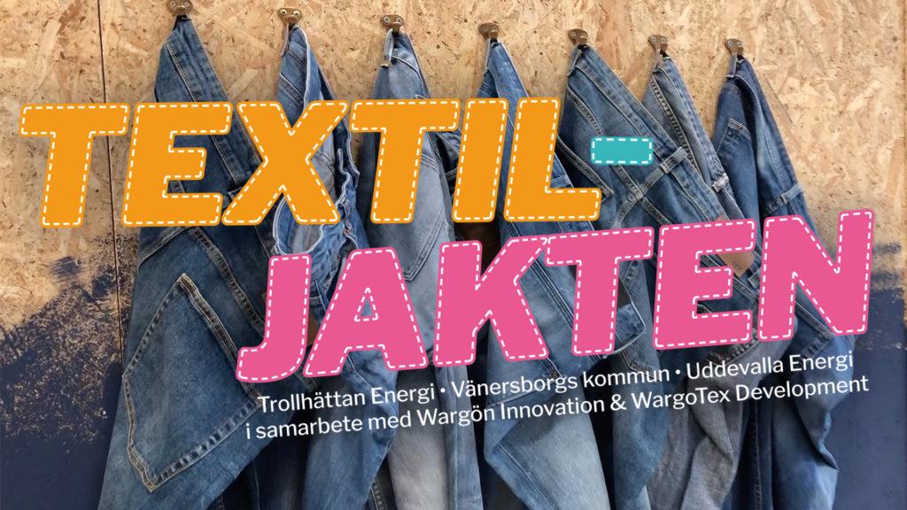 Textiljaktens logotyp på jeans